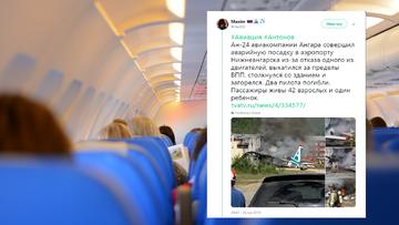 Awaryjne lądowanie samolotu w Rosji. Uderzył w budynek