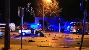 Zderzenie dwóch Audi A6. 7 rannych, cztery osoby w szpitalu