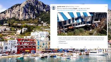 Panika na włoskiej plaży. Nagle spadł autobus